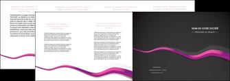 imprimer depliant 4 volets  8 pages  texture contexture structure MIF53873