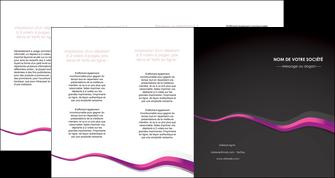 faire depliant 4 volets  8 pages  texture contexture structure MIF53877