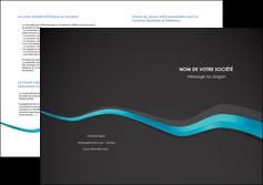 creer modele en ligne depliant 2 volets  4 pages  texture contexture structure MLGI53923