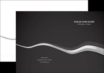 Commander Plaquette commerciale avec rabat  modèle graphique pour devis d'imprimeur Chemises à rabats -  A4 plus - Quadri recto-verso - simple rainage