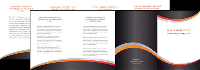 faire modele a imprimer depliant 4 volets  8 pages  texture contexture structure MLGI54583