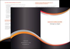 modele depliant 2 volets  4 pages  texture contexture structure MLIG54585