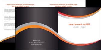 modele en ligne depliant 2 volets  4 pages  texture contexture structure MLIG54595