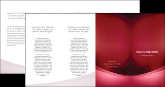 realiser depliant 4 volets  8 pages  texture contexture structure MIF54695