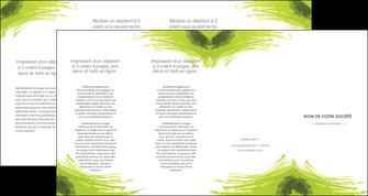 faire modele a imprimer depliant 4 volets  8 pages  texture contexture structure MLGI55007