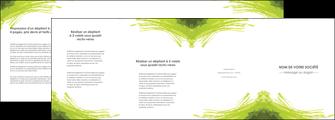 realiser depliant 4 volets  8 pages  texture contexture structure MLGI55009