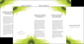 creer modele en ligne depliant 4 volets  8 pages  texture contexture structure MLGI55053