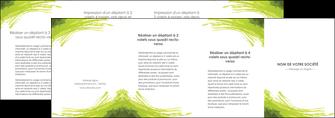 cree depliant 4 volets  8 pages  texture contexture structure MLGI55055