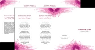 creation graphique en ligne depliant 4 volets  8 pages  texture contexture structure MLIG55389