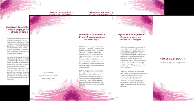 cree depliant 4 volets  8 pages  texture contexture structure MLGI55435