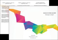 creer modele en ligne depliant 3 volets  6 pages  texture contexture structure MIF55465