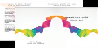 realiser depliant 2 volets  4 pages  texture contexture structure MIF55469