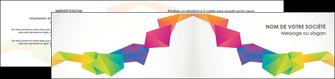 imprimerie depliant 2 volets  4 pages  texture contexture structure MIF55475