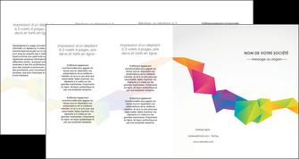 personnaliser maquette depliant 4 volets  8 pages  texture contexture structure MIF55485
