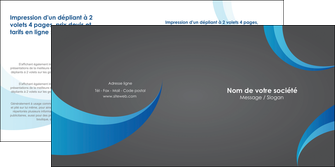 impression depliant 2 volets  4 pages  texture contexture structure MIF55507