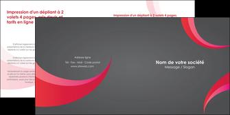modele depliant 2 volets  4 pages  texture contexture structure MLGI55715
