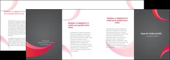 faire modele a imprimer depliant 4 volets  8 pages  texture contexture structure MIF55749