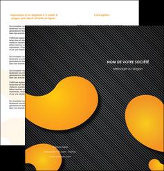 personnaliser modele de depliant 2 volets  4 pages  texture contexture structure MIF56451