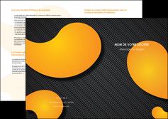personnaliser modele de depliant 2 volets  4 pages  texture contexture structure MIF56463