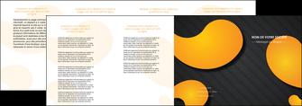 creer modele en ligne depliant 4 volets  8 pages  texture contexture structure MIF56465