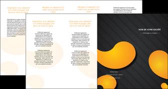 modele depliant 4 volets  8 pages  texture contexture structure MLGI56469