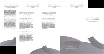 imprimerie depliant 4 volets  8 pages  texture contexture structure MIF56687