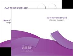 imprimer carte de visite violet fond violet violet pastel MIF56917