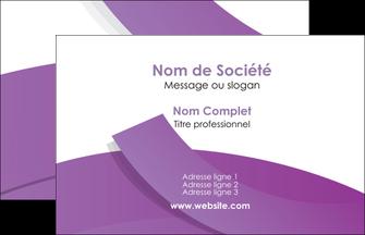 exemple carte de visite violet fond violet violet pastel MIF56919