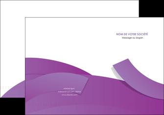 imprimer pochette a rabat violet fond violet violet pastel MIF56921