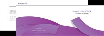 impression depliant 2 volets  4 pages  violet fond violet violet pastel MIF56925