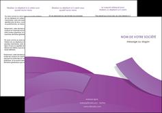 creation graphique en ligne depliant 3 volets  6 pages  violet fond violet violet pastel MIF56935