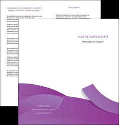 faire modele a imprimer depliant 2 volets  4 pages  violet fond violet violet pastel MLGI56937