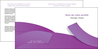 imprimerie depliant 2 volets  4 pages  violet fond violet violet pastel MIF56939