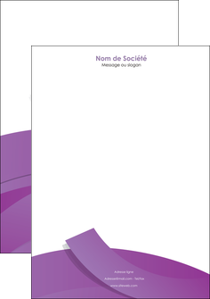 maquette en ligne a personnaliser tete de lettre violet fond violet violet pastel MIF56941