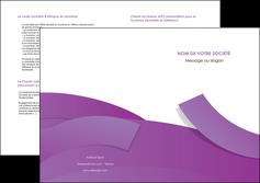 maquette en ligne a personnaliser depliant 2 volets  4 pages  violet fond violet violet pastel MLGI56949