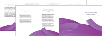 imprimer depliant 4 volets  8 pages  violet fond violet violet pastel MIF56951