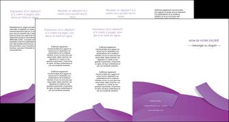 modele depliant 4 volets  8 pages  violet fond violet violet pastel MIF56955