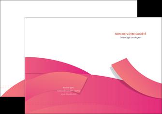 personnaliser modele de pochette a rabat orange rose couleur MIF57129