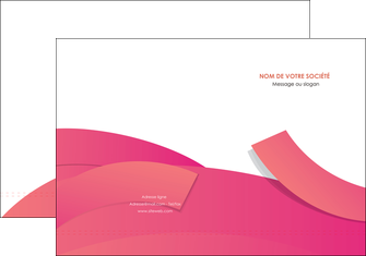 personnaliser modele de pochette a rabat orange rose couleur MLGI57129
