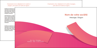 creer modele en ligne depliant 2 volets  4 pages  orange rose couleur MIF57147