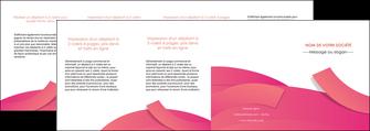 modele en ligne depliant 4 volets  8 pages  orange rose couleur MLGI57165