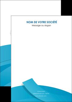 maquette en ligne a personnaliser flyers bleu bleu pastel fond bleu pastel MIF57181