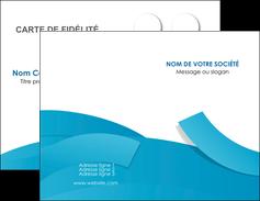 Commander cartes de visite vernis selectif  Carte commerciale de fidélité modèle graphique pour devis d'imprimeur Carte de visite Double - Portrait