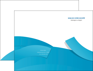 imprimerie pochette a rabat bleu bleu pastel fond bleu pastel MLIG57189