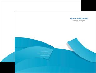 imprimerie pochette a rabat bleu bleu pastel fond bleu pastel MIF57189