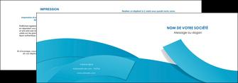modele depliant 2 volets  4 pages  bleu bleu pastel fond bleu pastel MIF57193