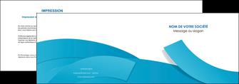 personnaliser maquette depliant 2 volets  4 pages  bleu bleu pastel fond bleu pastel MIF57195