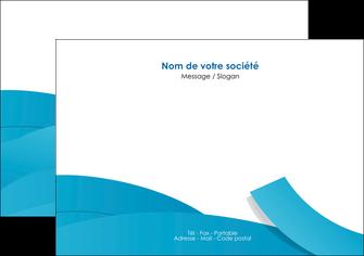personnaliser maquette flyers bleu bleu pastel fond bleu pastel MIF57201