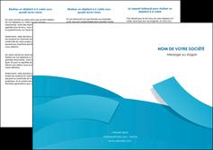 exemple depliant 3 volets  6 pages  bleu bleu pastel fond bleu pastel MIF57203