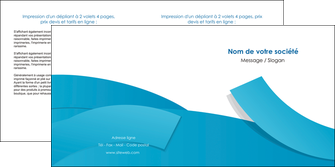 cree depliant 2 volets  4 pages  bleu bleu pastel fond bleu pastel MLIG57207